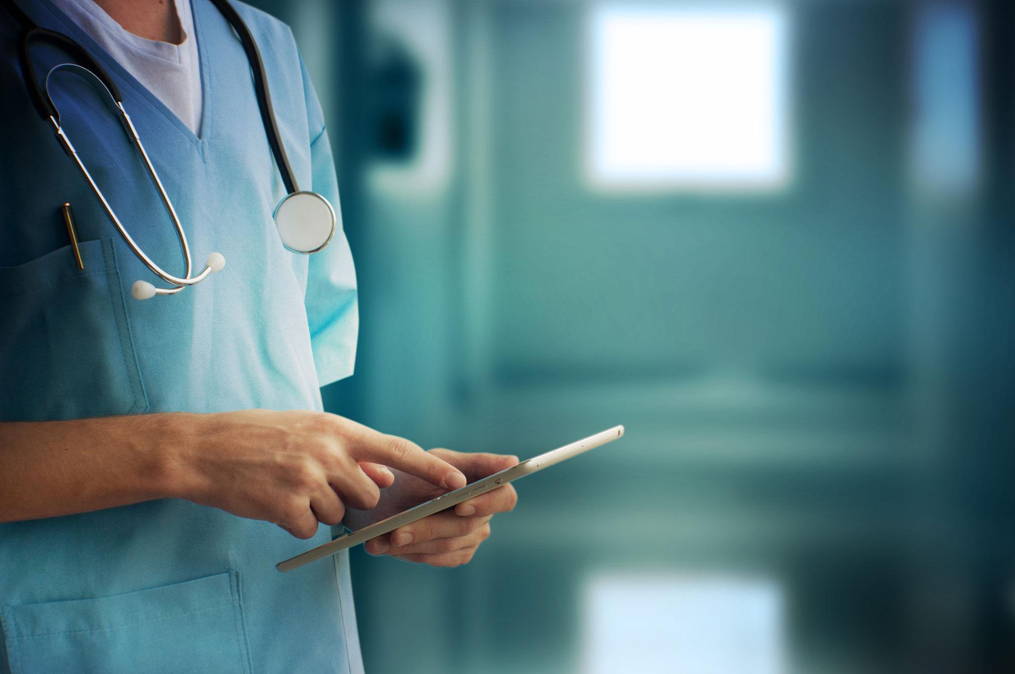 medical doctor using technology - digital health dconnect