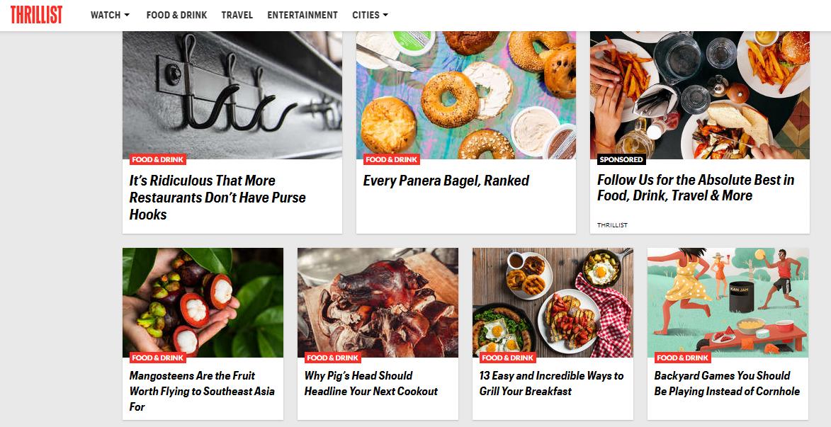 Food blog example