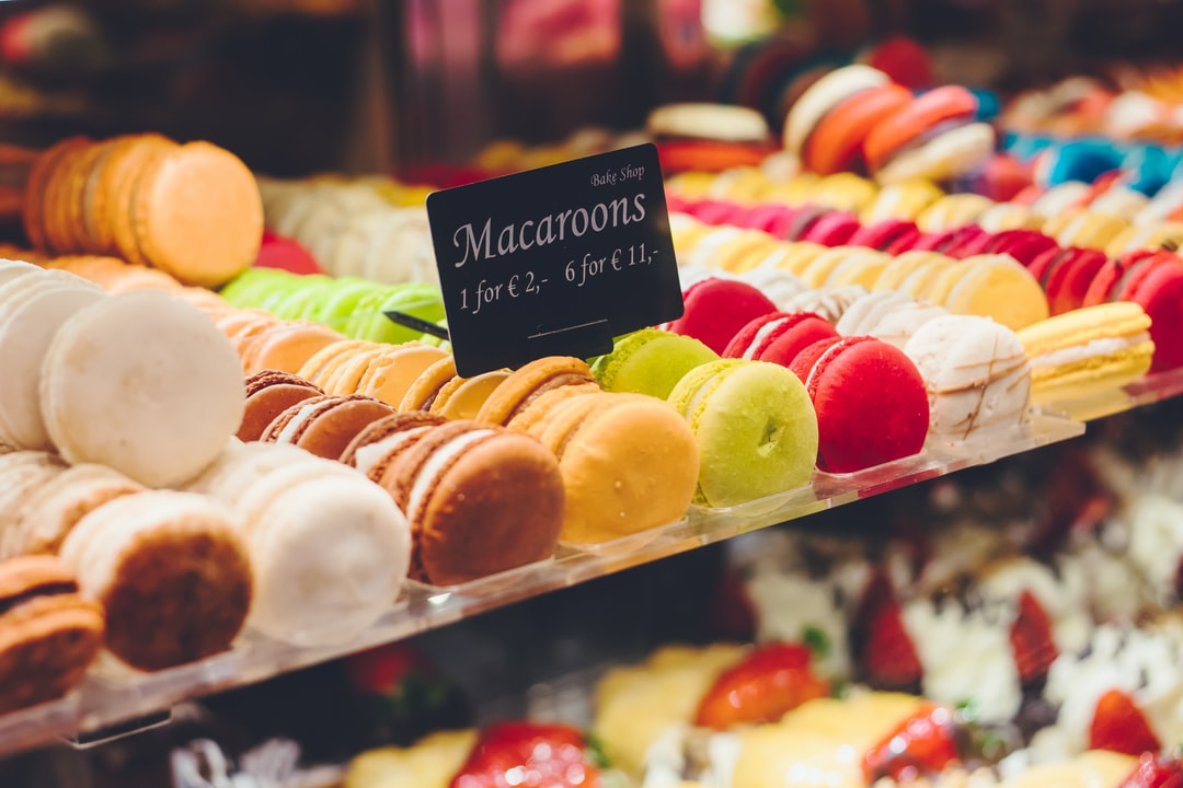 Macaroons for sale in Amsterdam