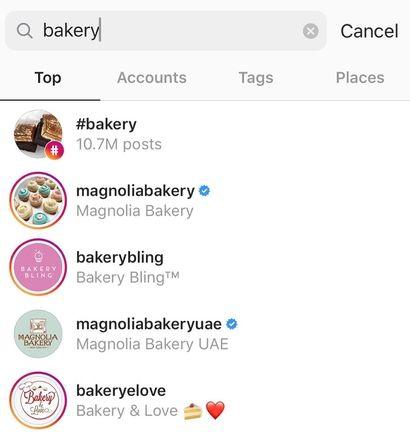 Instagram SEO example