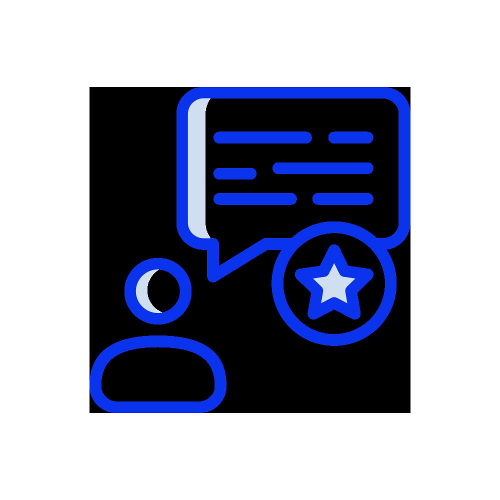 Convenient and customer feedback icon
