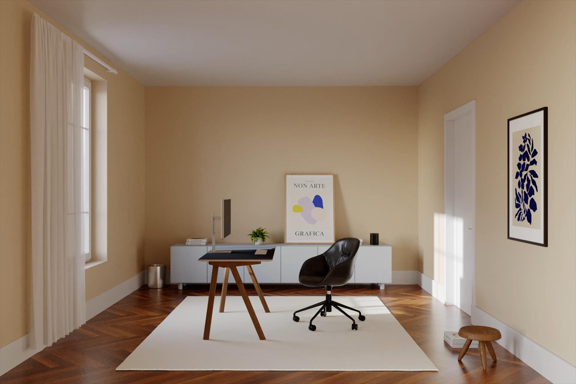 Minimalist room with desk