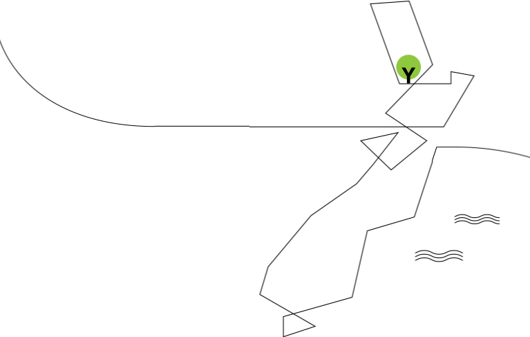 single line map of New Zealand