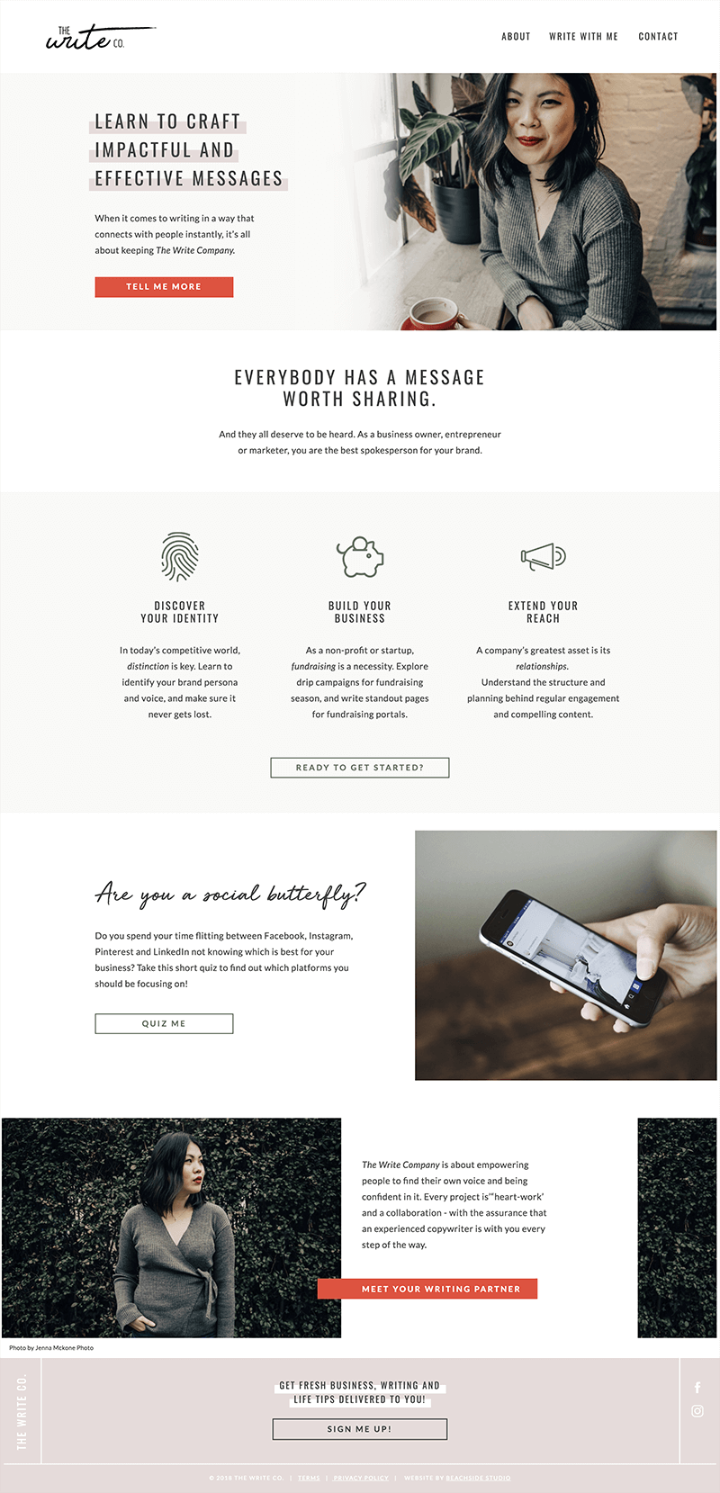 Mockup of thewrite.co