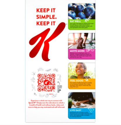 Kellogg's QR code on product packaging