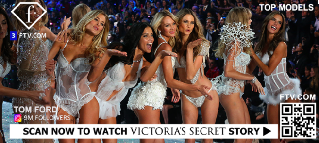 qr code TV advert to watch victoria's secret fashion show