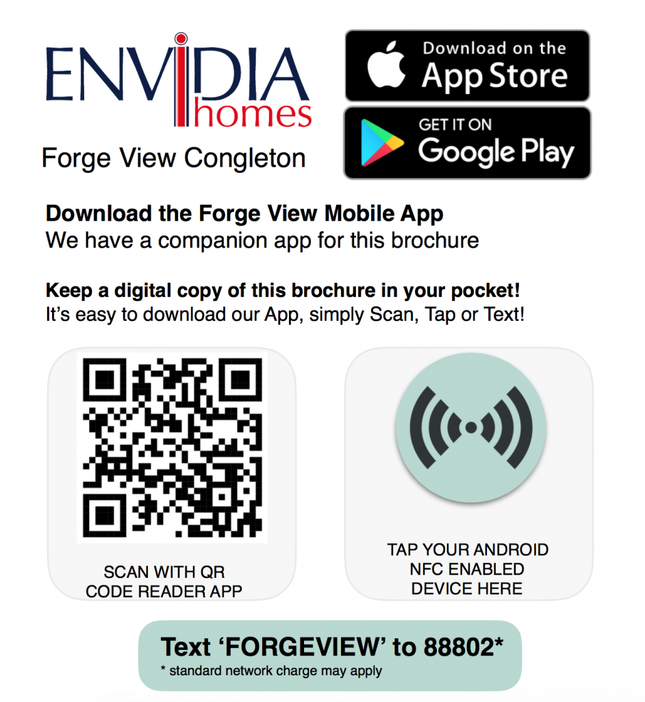 qr code to download the envidia homes app
