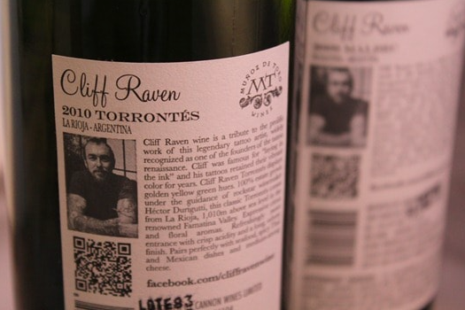 qr code on a wine bottle label