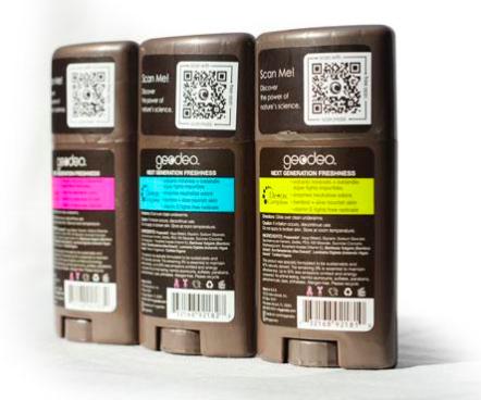 qr code on deodorant packaging