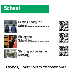 school functional skills with qr codes links