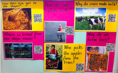 school posters with qr codes