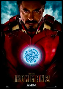 iron man two qr code poster