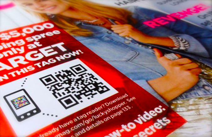 qr code on a magazine cover