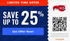 save 25 percent discount qr code offer