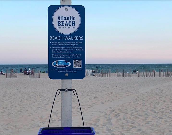 Atlantic beach cleanup QR code poster