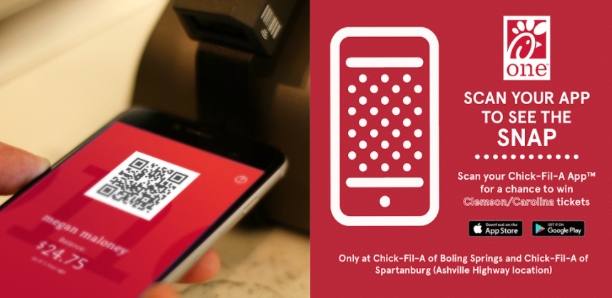 Payment qr code scan at the counter