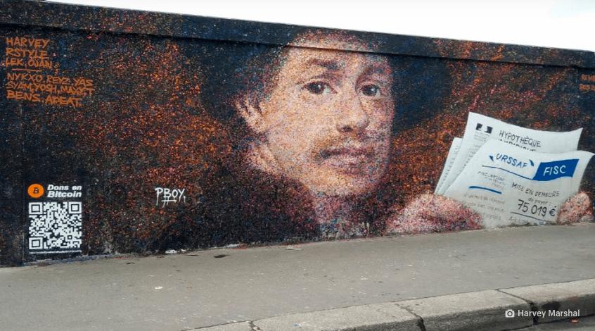 QR code for bitcoin payment for street art modern vincent van gogh