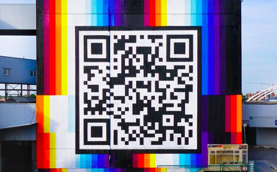 QR code pantone mural belgium