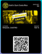 QR code gold's gym costa rica check-in