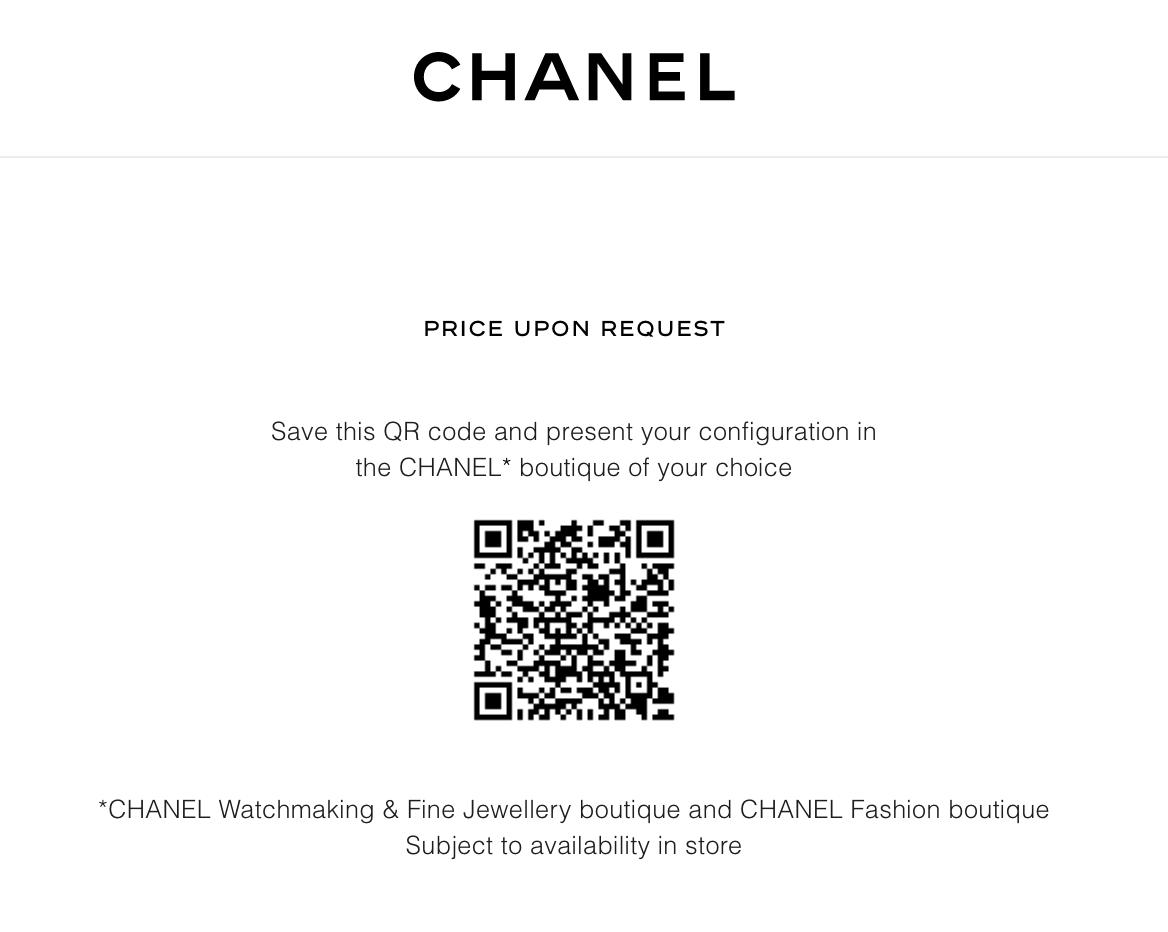QR code chanel boy-friend watch website screenshot