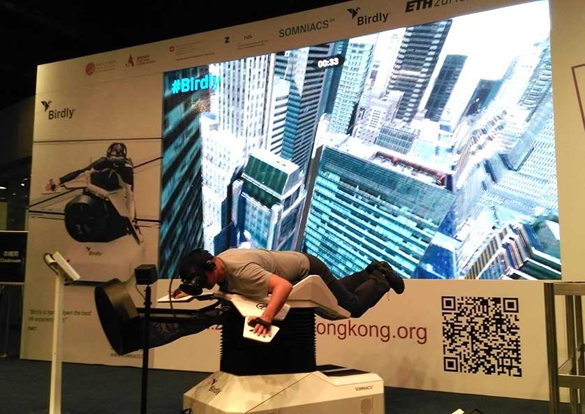 virtual reality experience and a QR code advert in hong kong