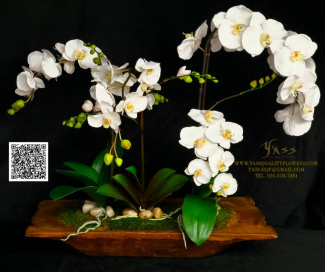 Flower arrangement Twitter advert with a QR code