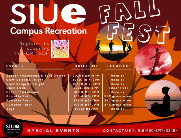 a fall festival leaflet with a timetable and a QR code for registration