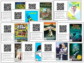 QR codes linked to children's book trailers