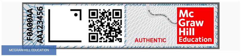 mcgraw hill education authentic QR code label for textbooks