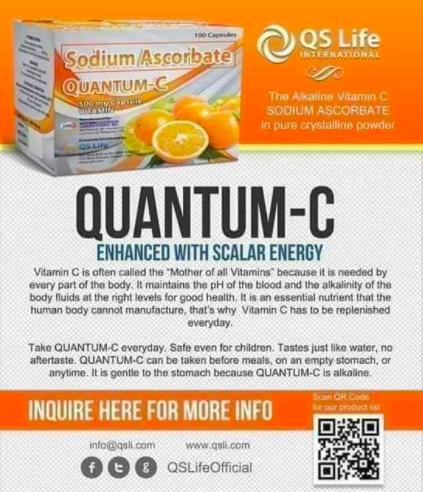 qr code on a vitamin c advertisement