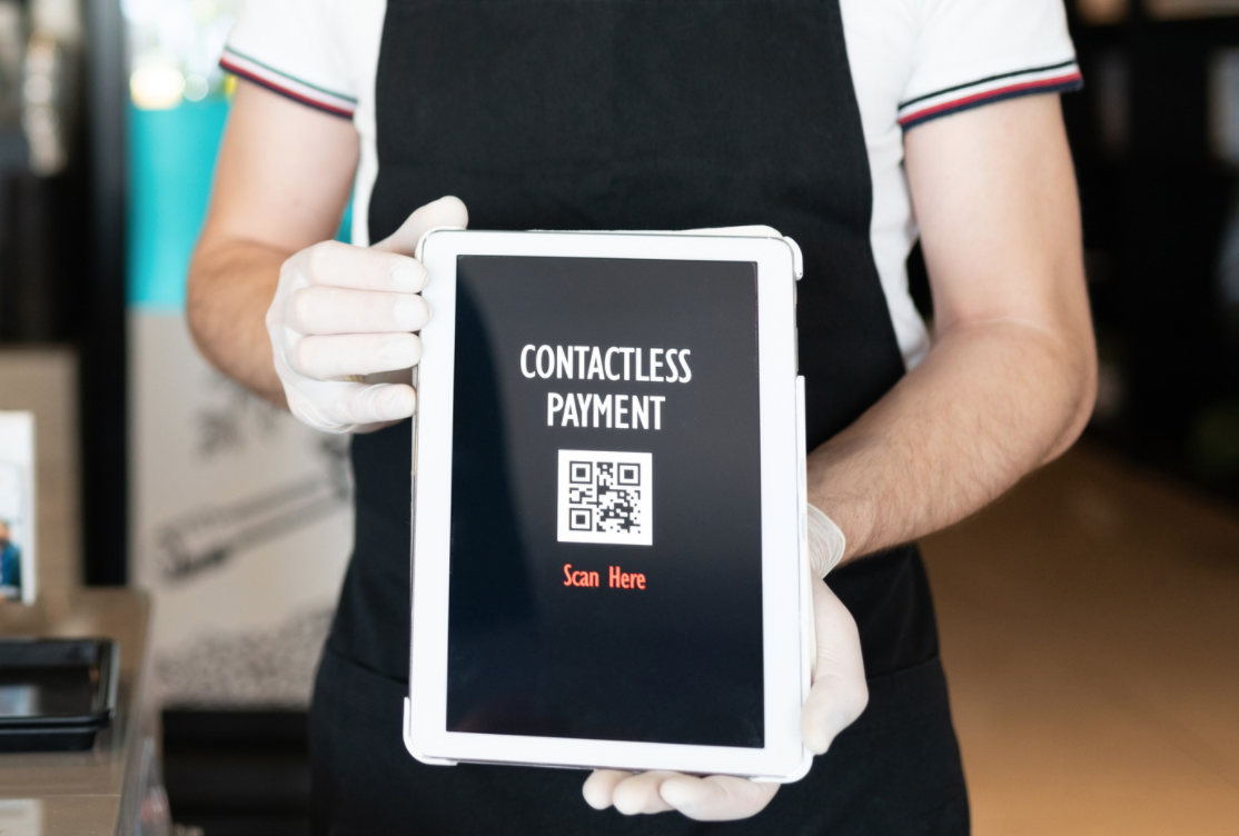 QR code payment on ipad