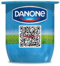 qr code based loyalty programs Danone