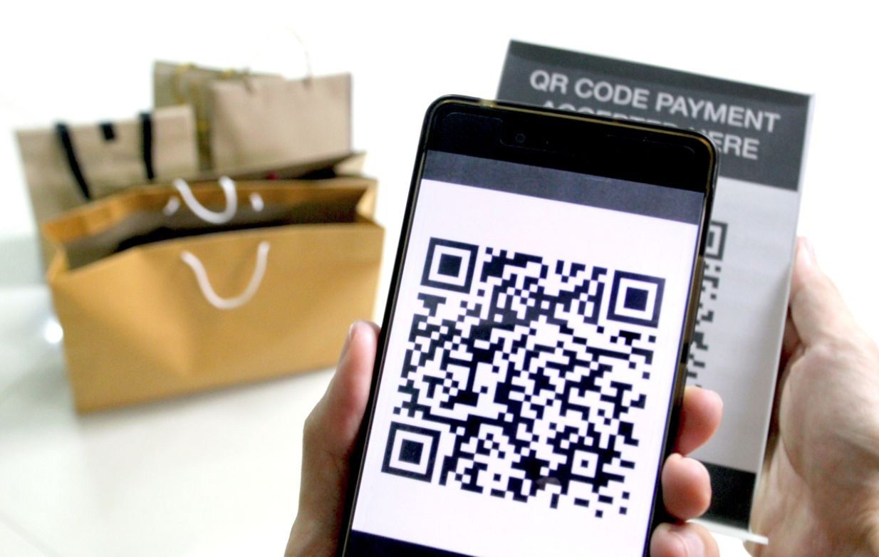 QR code payment for shopping