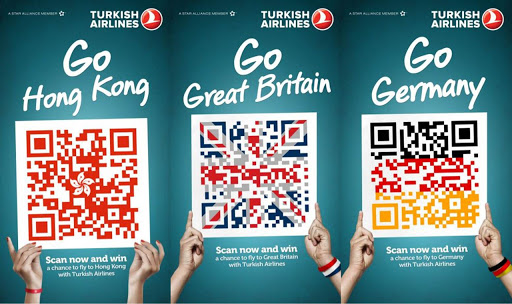 turkish airlines advertisement with qr code