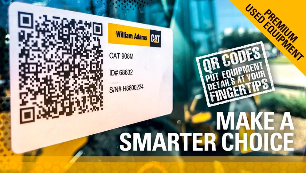 qr codes for CAT equipment william adams