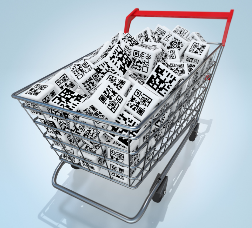 bulk qr codes in shopping cart