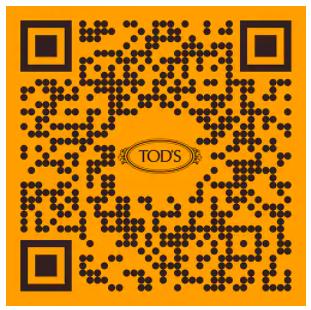 orange qr code for tod's