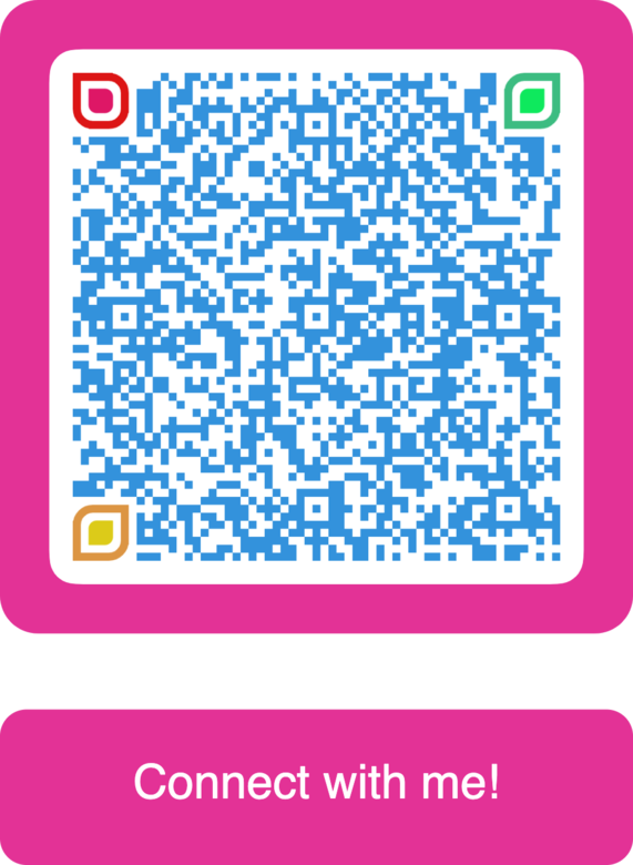 vcard qr code pink and blue