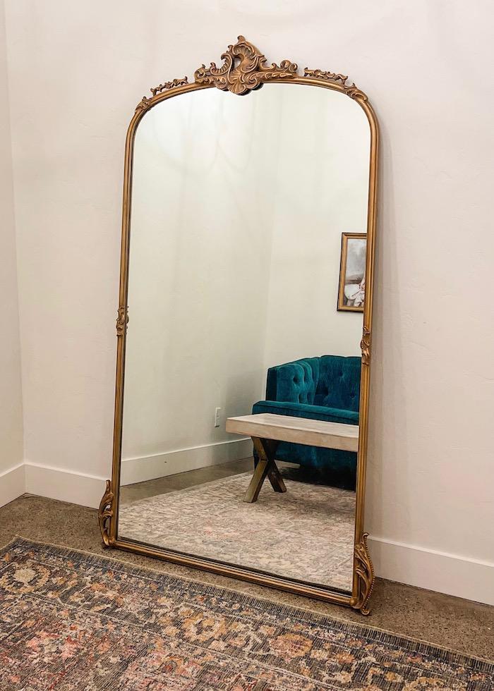 Bride's room floor mirror