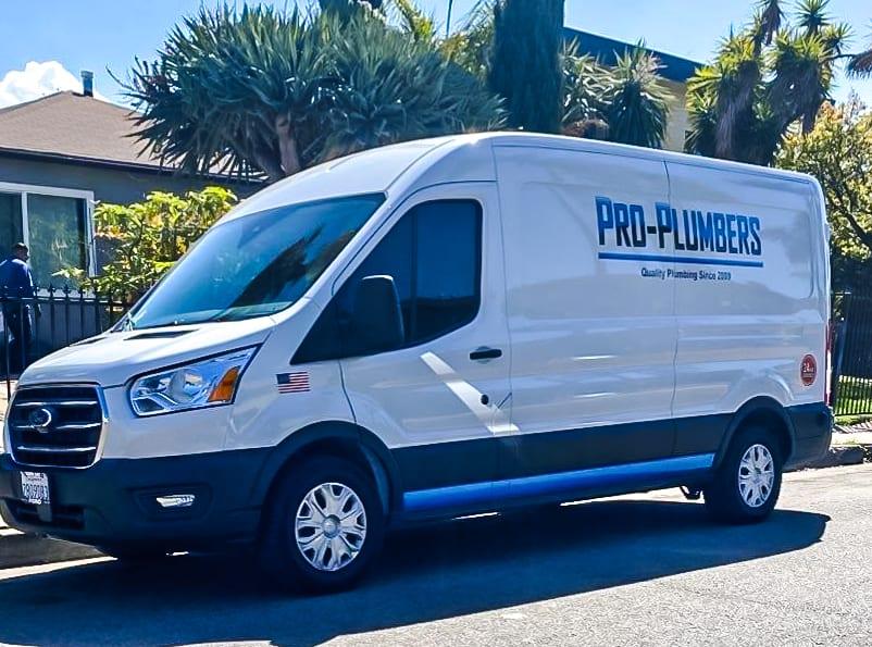 Pro Plumbers Faucet Repair Service Van