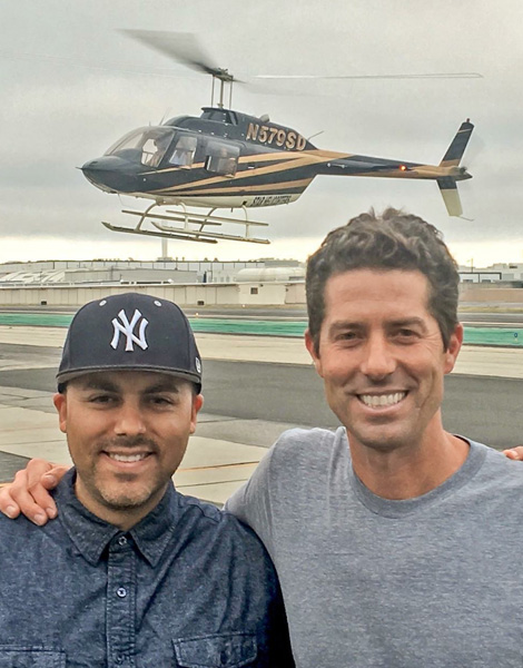 Ian and J helicopter
