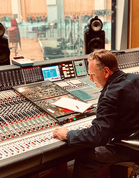 Andy Abbey Road mixing desk