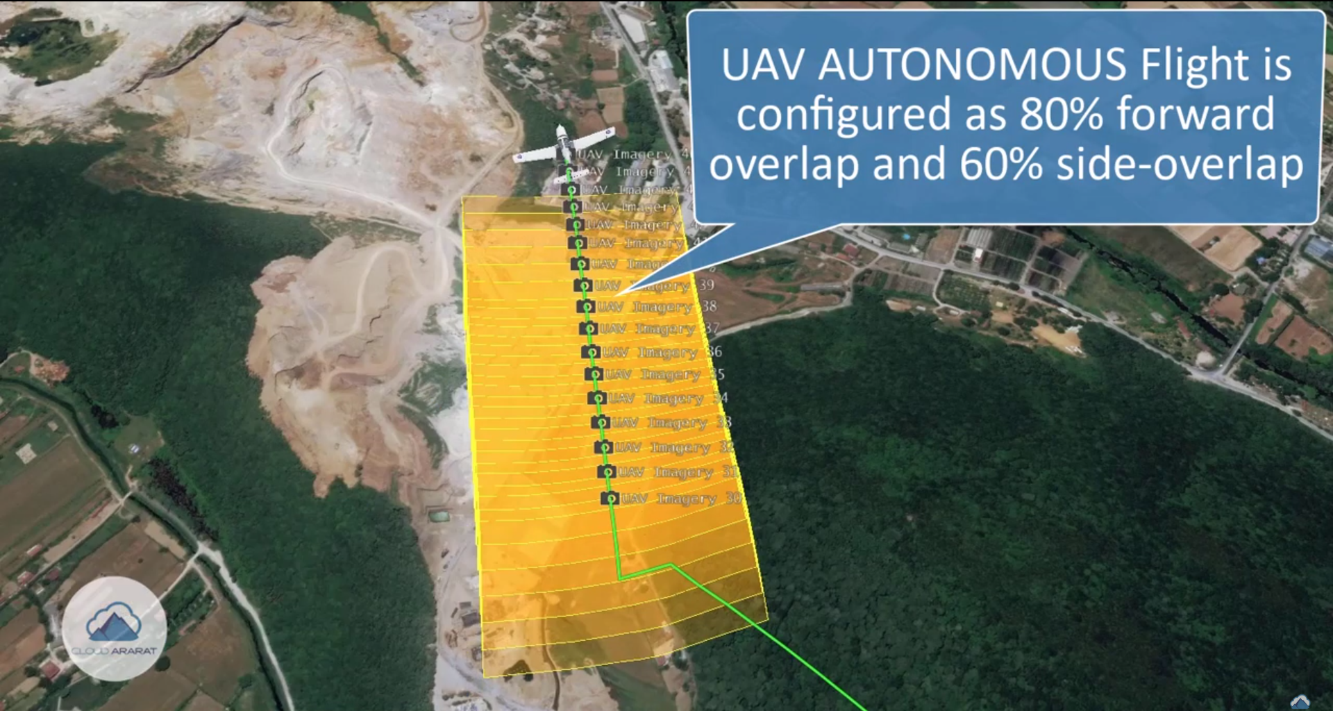 Photogrammetric UAV Flight Visualization On The Cloud