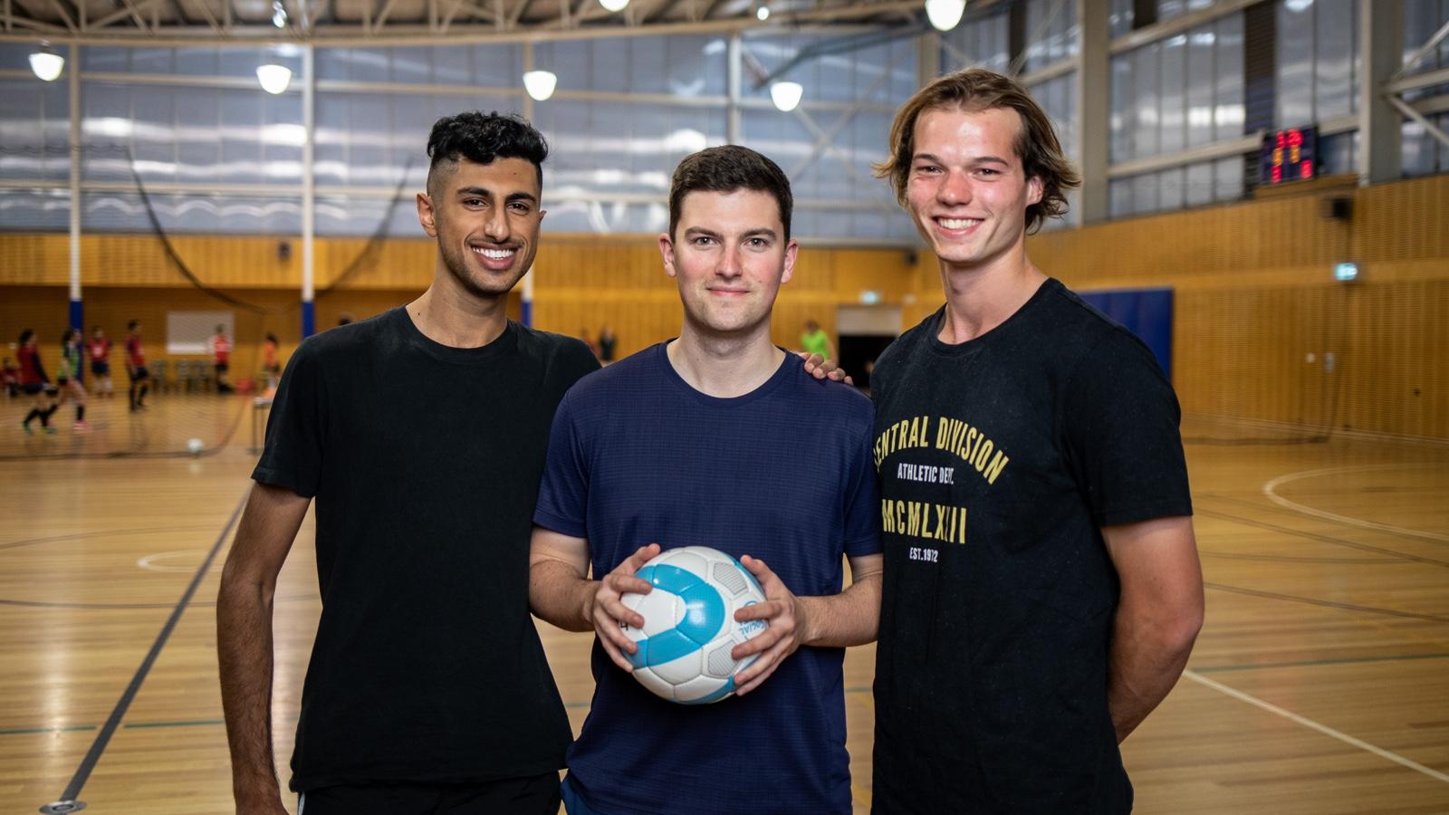 3 male Futsal players