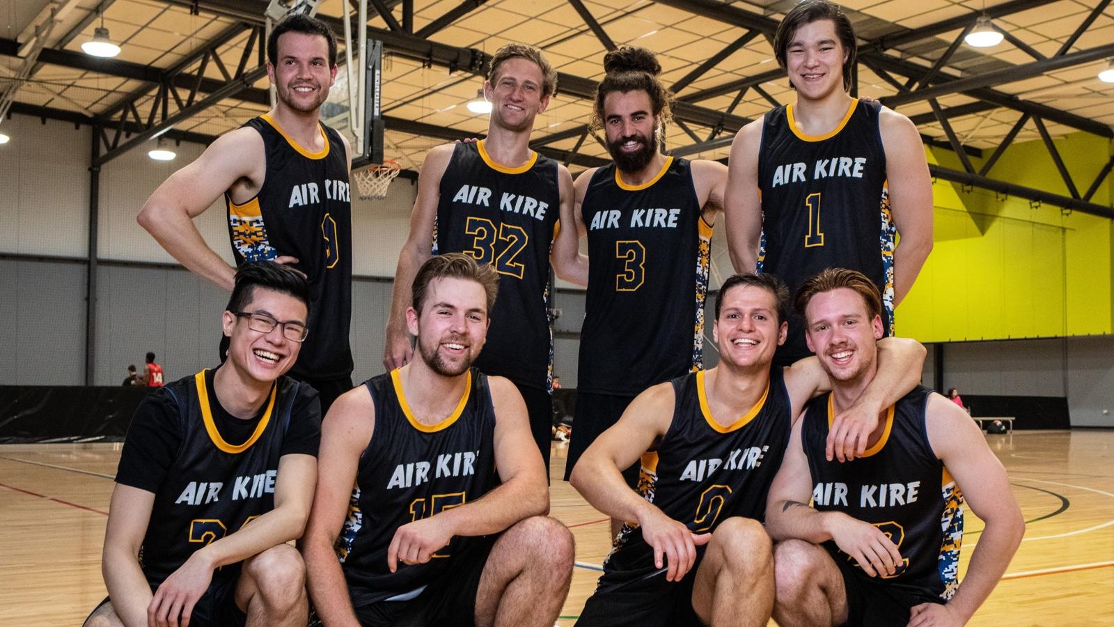 All male Basketball team photo
