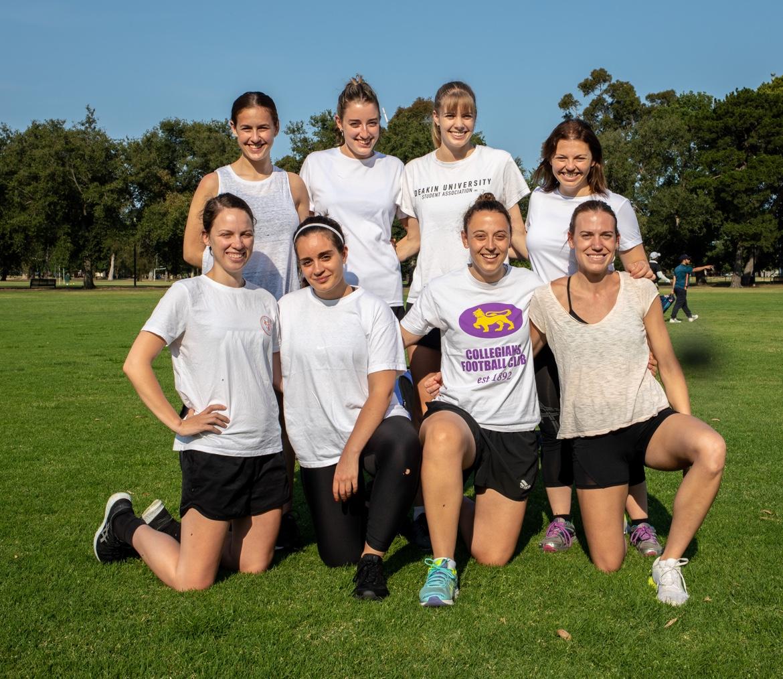 All female Footy 7s team photo