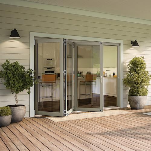Bi-fold door opening onto patio.