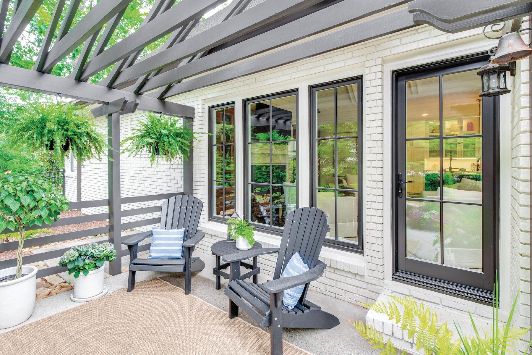 Exterior view of Inswing Door on patio