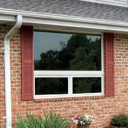 Exterior awning window.