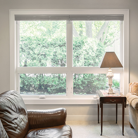 Interior awning window.